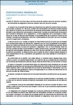 Decreto 353/2013, de 28 de mayo de 2013, de Ficha Social del Sistema Vasco de Servicios Sociales y del instrumento de diagnóstico social del Sistema Vasco de Servicios Sociales