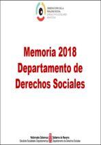 Memoria Departamento Derechos Sociales 2018