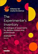 The Experimenter\'s Inventory. A catalogue of experiments for decision-makers and professionals