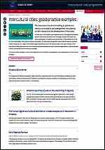 Intercultural cities: good practice examples