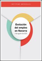 Evolución del empleo en Navarra. Informe mensual 4 de agosto de 2020