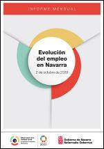 Evolución del empleo en Navarra. Informe mensual 2 de octubre de 2020
