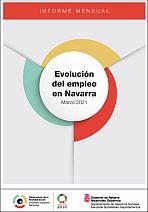 Evolución del empleo en Navarra. Marzo 2021