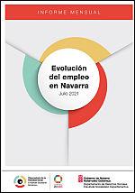 Evolución del empleo en Navarra. Julio 2021