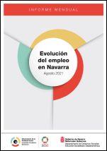 Evolución del empleo en Navarra. Agosto 2021