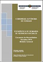 Estadística de demanda de servicios sociales. Encuesta de Necesidades Sociales 2014