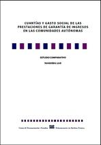 Estudio comparativo de las prestaciones de garantía de ingresos en las CCAA
